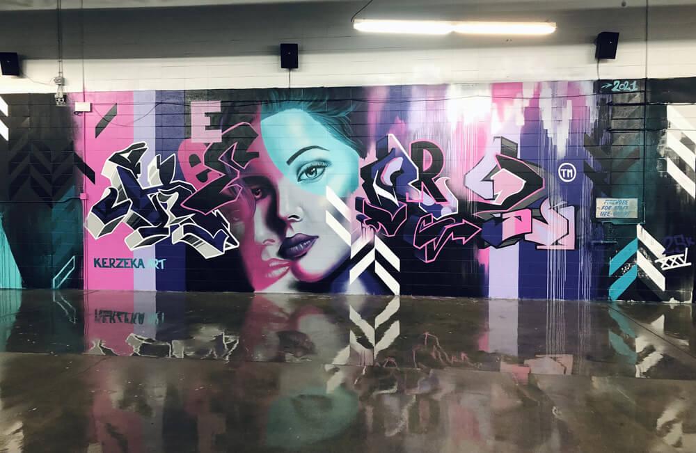 graffiti art at Arthur's Car Wash